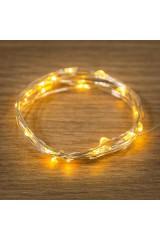 Гирлянда 2м, 20 LED, цвет желтый Роса