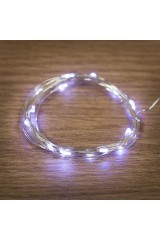 Гирлянда 2м, 20 LED, цвет голубой Роса