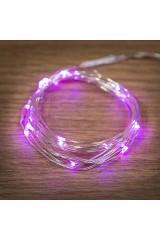 Гирлянда 2м, 20 LED, цвет розовый Роса