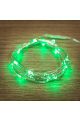Гирлянда 2м, 20 LED, цвет зеленый Роса