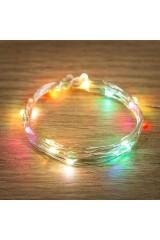 Гирлянда 2м, 20 LED, разноцветная Роса