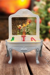 Декоративный светильник с эффектом снегопада Столик