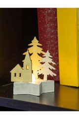Украшение для интерьера с подсветкой Домик в лесу
