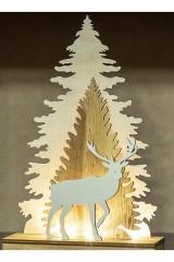 Украшение для интерьера с подсветкой Елочка с оленем