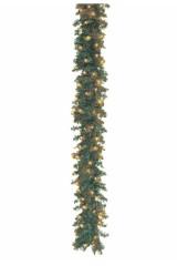 Гирлянда 2,7м, 100 микроламп, цвет тёплый белый Еловый шлейф
