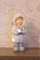 Керамическая фигурка Снегурочка со звездой