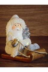Керамическая фигурка Дед Мороз на санях