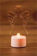 Фигура светодиодная на подставке Ангел