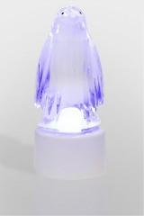 Фигура светодиодная на подставке Пингвин