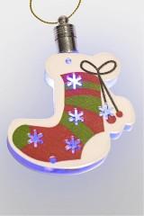 Фигурка подвесная светящаяся Новогодний носок