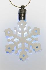 Фигурка подвесная светящаяся Снежинка