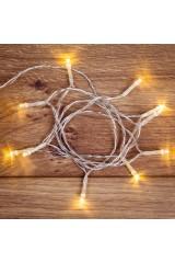 Гирлянда светодиодная универсальная 10 LED Гирлянда светодиодная универсальная 10 LED ТЕПЛЫЙ БЕЛЫЙ 1,5 метра, прозрачный ПВХ,