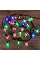 Гирлянда светодиодная универсальная с насадками 30 LED мультиколор Гирлянда светодиодная универсальная с насадками 30 LED МУЛЬТИКОЛОР, 4,4 метра