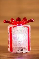 Фигура светодиодная на подставке Новогодний подарок