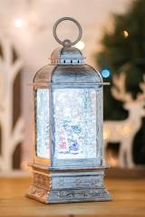 Декоративный фонарь с эффектом снегопада Рождество