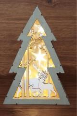 Деревянная фигурка с подсветкой Елочка