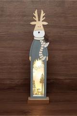 Деревянная фигурка с подсветкой Рождественский олень