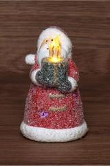 Керамическая фигурка Дед Мороз со свечкой