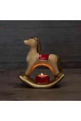 Керамический подсвечник Лошадка