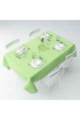 Скатерть Зеленая клетка