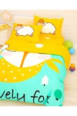 Постельное белье 1,5-спальное Лис и барашки