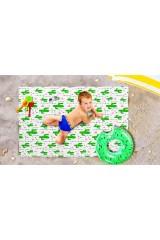 Пляжное покрывало детское Влюбленные кактусы