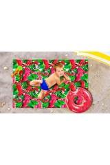 Пляжное покрывало детское Фламинго