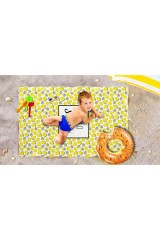 Пляжное покрывало детское Лимонный фреш
