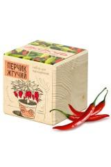 Набор для выращивания Экокуб Перчик жгучий