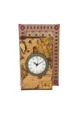 Шкатулка декоративная  с часами Карта мира