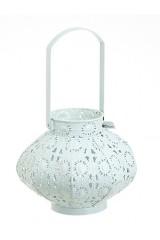 Подсвечник декоративный со стеклянной колбой для свечи Белоснежный