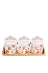 Набор банок для сыпучих продуктов Бисквит