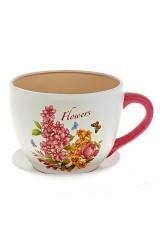 Горшок для цветов с поддоном Flowers-Loreto