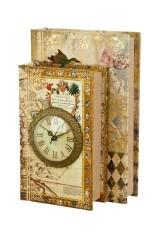 Шкатулка декоративная с часами Дуэт
