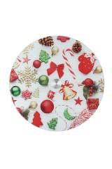 Блюдо вращающееся новогоднее для сервировки стола Новогодние игрушки