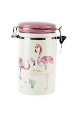 Банка для сыпучих продуктов Фламинго