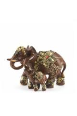 Фигурка декоративная Слониха со слонёнком