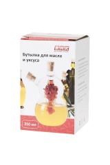 Бутылка для масла и уксуса Бутылка для масла и уксуса v=350мл. (10*7,5*15см.) (стекло)