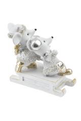 Фигурка декоративная Мышата на санках