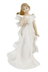 Фигурка декоративная Девушка с сердцем