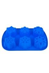 Форма силиконовая для выпечки на 6 ячеек Снежинка