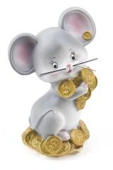 Фигурка копилка декоративная Усатый мышь