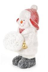 Фигурка декоративная с подсветкой Снеговик