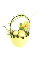 Композиция декоративная Яйцо в лукошке