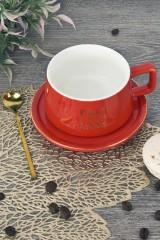 Чашка с блюдцем и ложкой Магия цвета