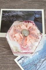 Шкатулка декоративная для ювелирных украшений Нежный пион