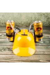 Каска с подставками под банки Желтая