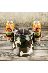 Каска с подставками под банки Камуфляж
