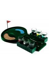 Пьяный гольф со стопками Лунка