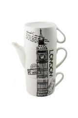 Чайник с двумя кружками фарфор Лондон